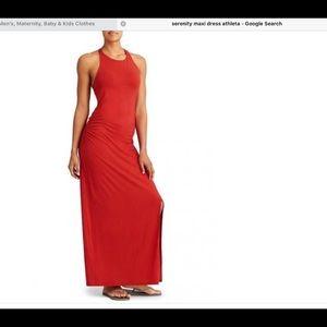Stunning red Athleta maxi dress